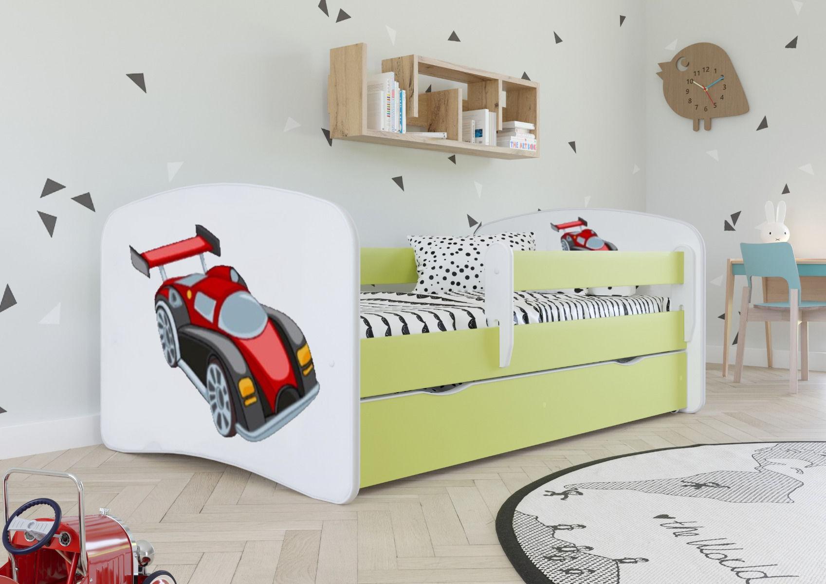 Łóżko dziecięce BABY DREAMS auto wyścigowe 180x80