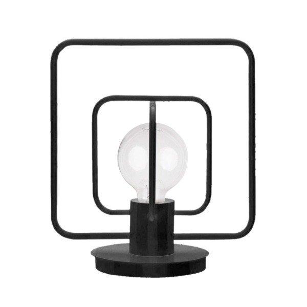 Lampa stołowa AURA kwadrat czarna