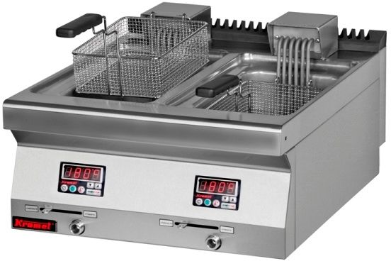 Frytownica elektryczna 2-komorowa - poj. 2x10l KROMET 700.FE-2x10f