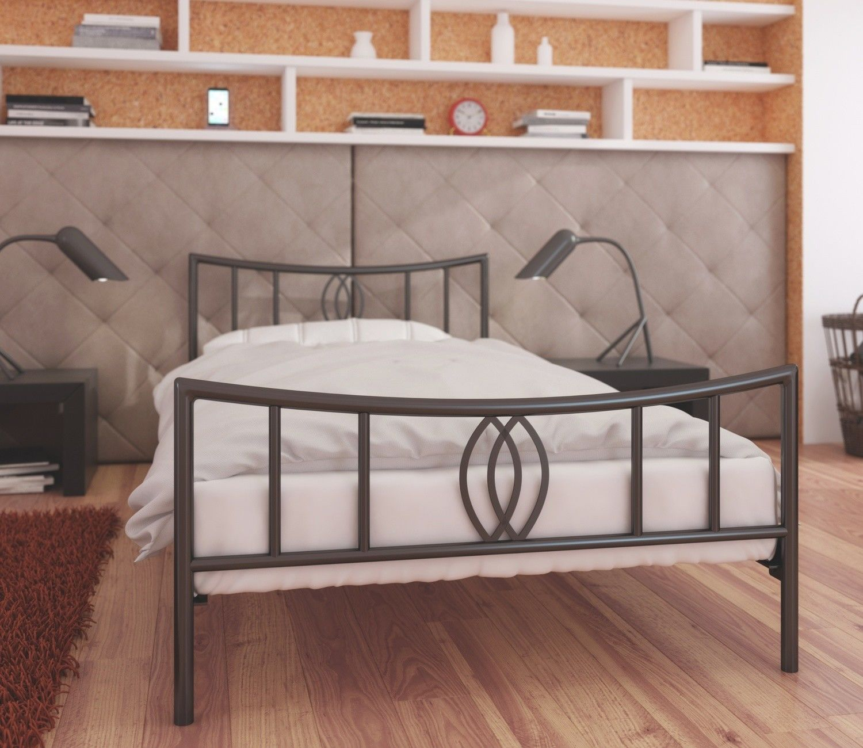 Łóżko metalowe 90x190 wzór 11 ze stelażem