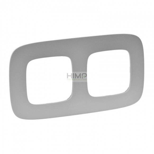 VALENA ALLURE Ramka podwójna - Aluminium Legrand 754392