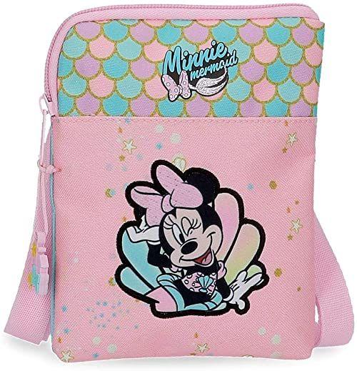 Disney Minnie Mermaid torba na ramię różowa 13 x 16,5 x 1,5 cm poliester