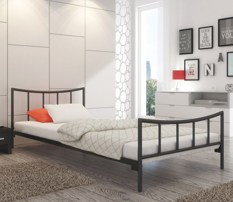 Łóżko metalowe 80x190 wzór 12 ze stelażem