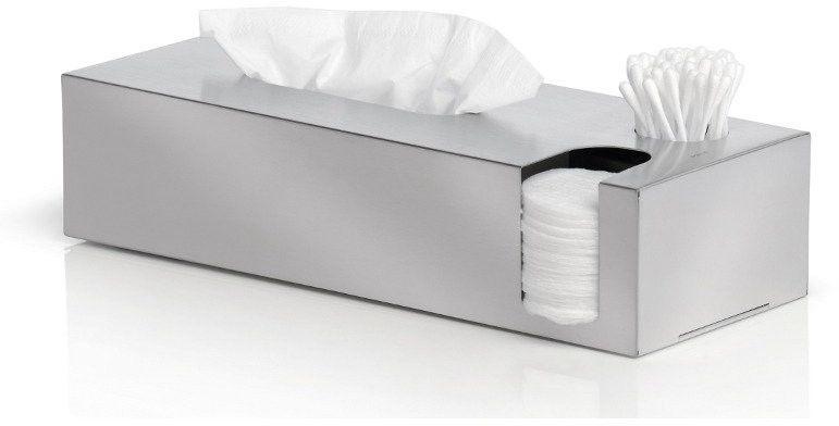 Blomus - multi pojemnik na chusteczki, płatki, patyczki - nexio matowy - stal matowa