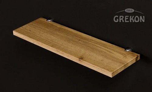 Półka łazienkowa FOKUS 50cm + wsporniki, kolor dębu, Gante