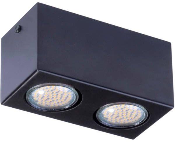 Lampa sufitowa plafon PIXEL NEW STALOWY 2 czarny 32623