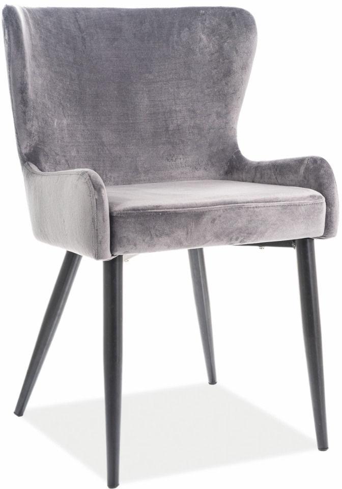Krzesło PASSO II VELVET szare