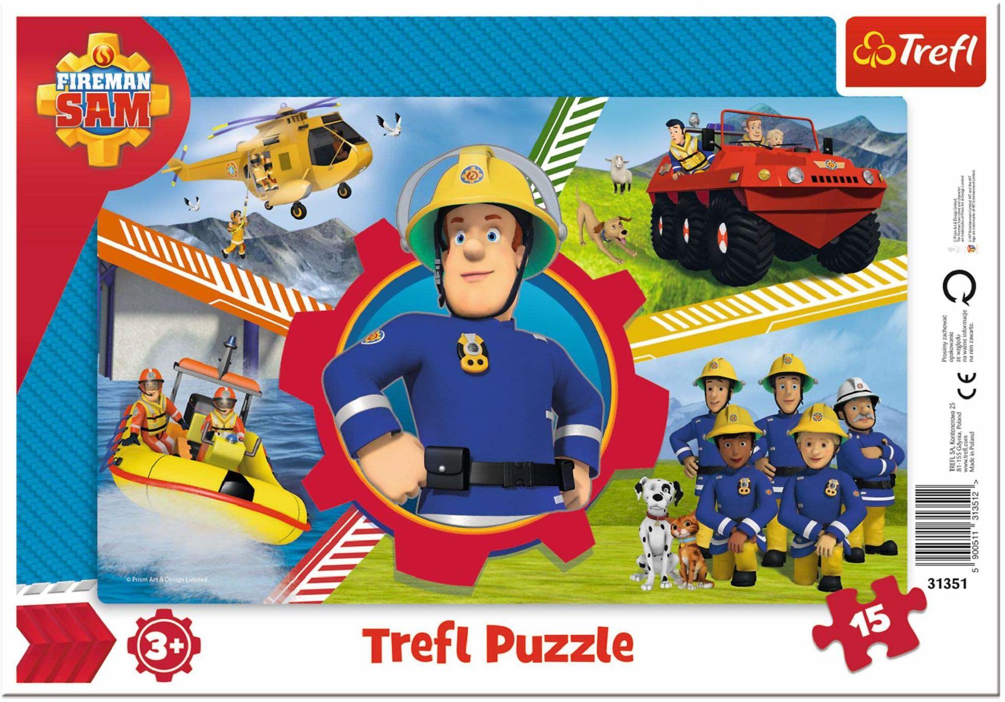 Trefl Dzień Strażaka Sama Puzzle Ramkowe dla Dzieci od 3 lat