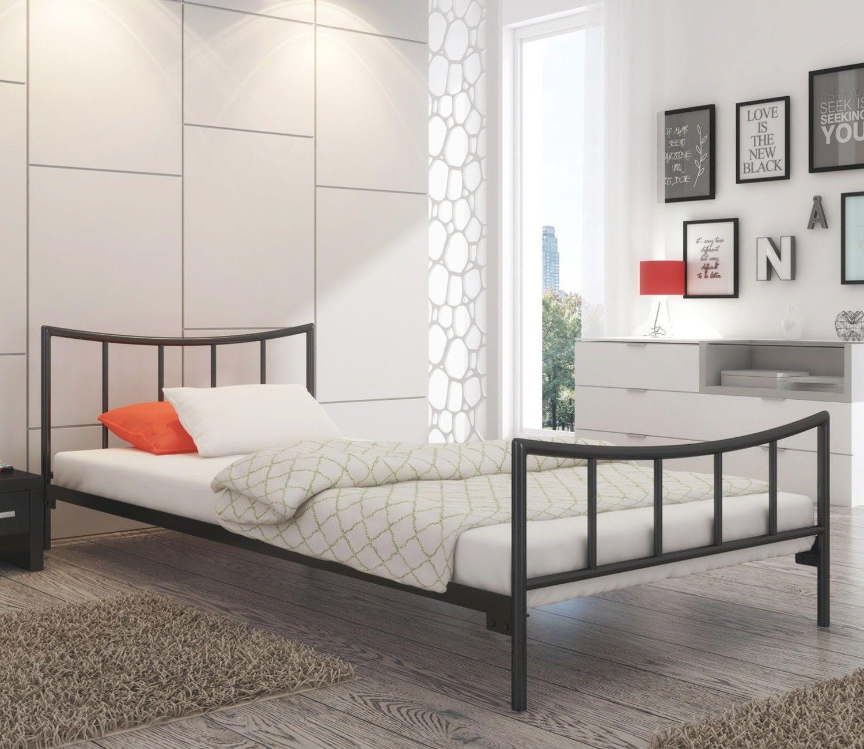 Łóżko metalowe sypialniane 90x190 wzór 12 ze stelażem