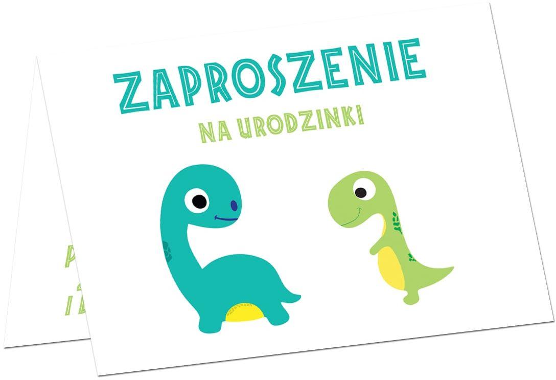Zaproszenia urodzinowe Wesołe Dinozaury - 6 szt.