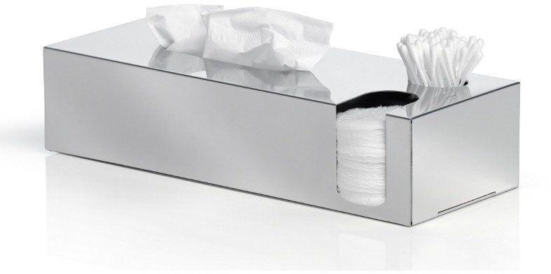 Blomus - multi pojemnik na chusteczki, płatki, patyczki - nexio polerowany - srebrny