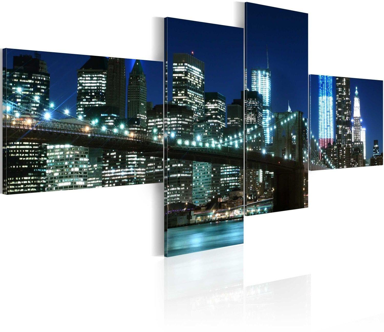 Obraz - oświetlony most brookliński