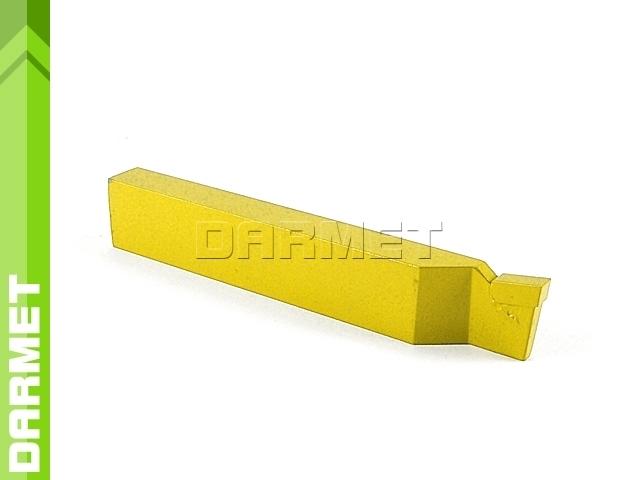 Nóż tokarski przecinak prawy NNPa ISO7, wielkość 1208 U10 (M10), do stali nierdzewnej