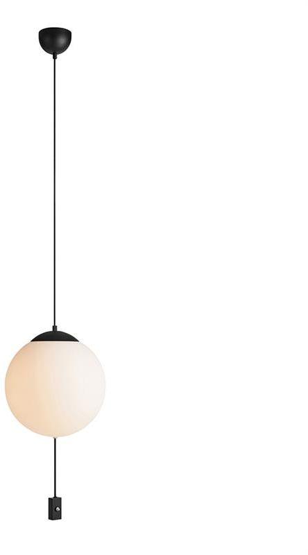 Lampa wisząca HERE 107902 Markslojd czarno-biała oprawa sufitowa w nowoczesnym stylu