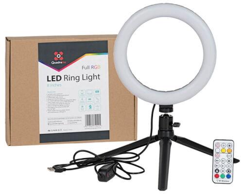 Quadralite LED Ring Light - lampa pierścieniowa, RGB, 8'' Quadralite LED Ring Light