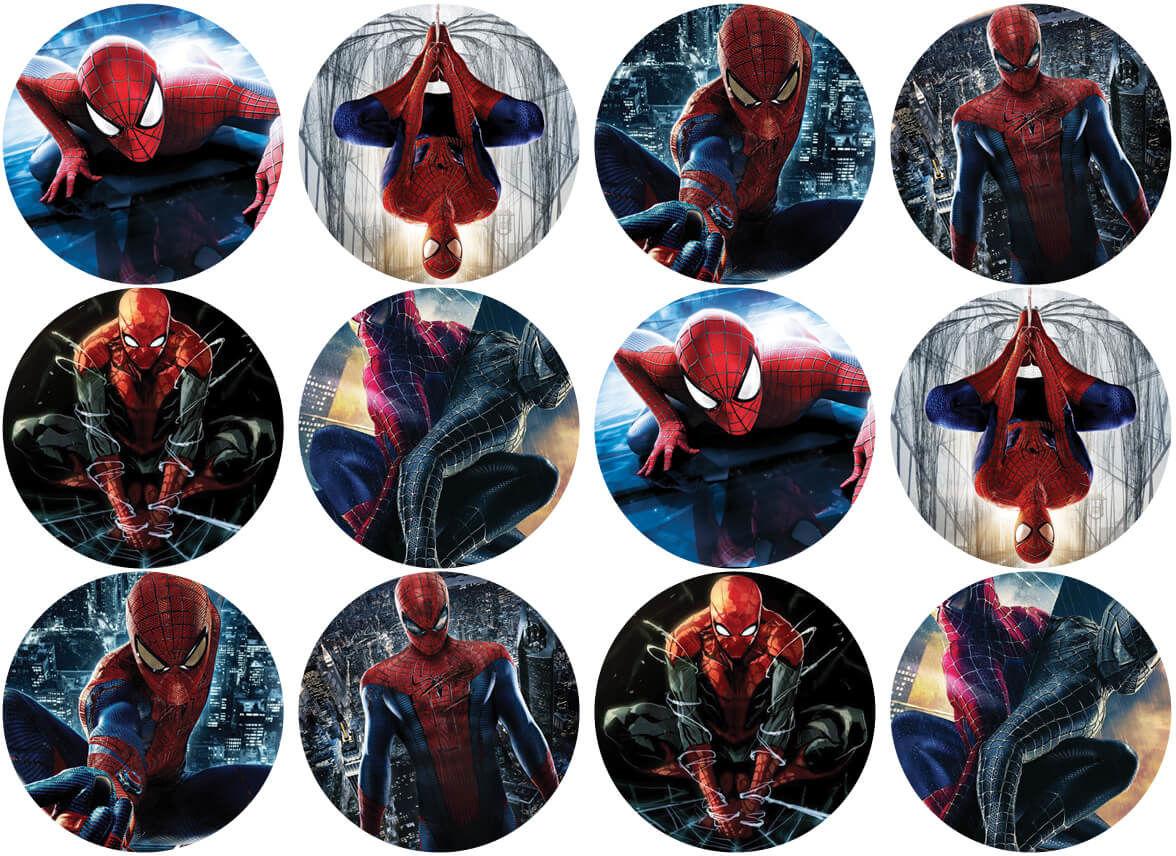 Opłatki na muffiny babeczki Spiderman
