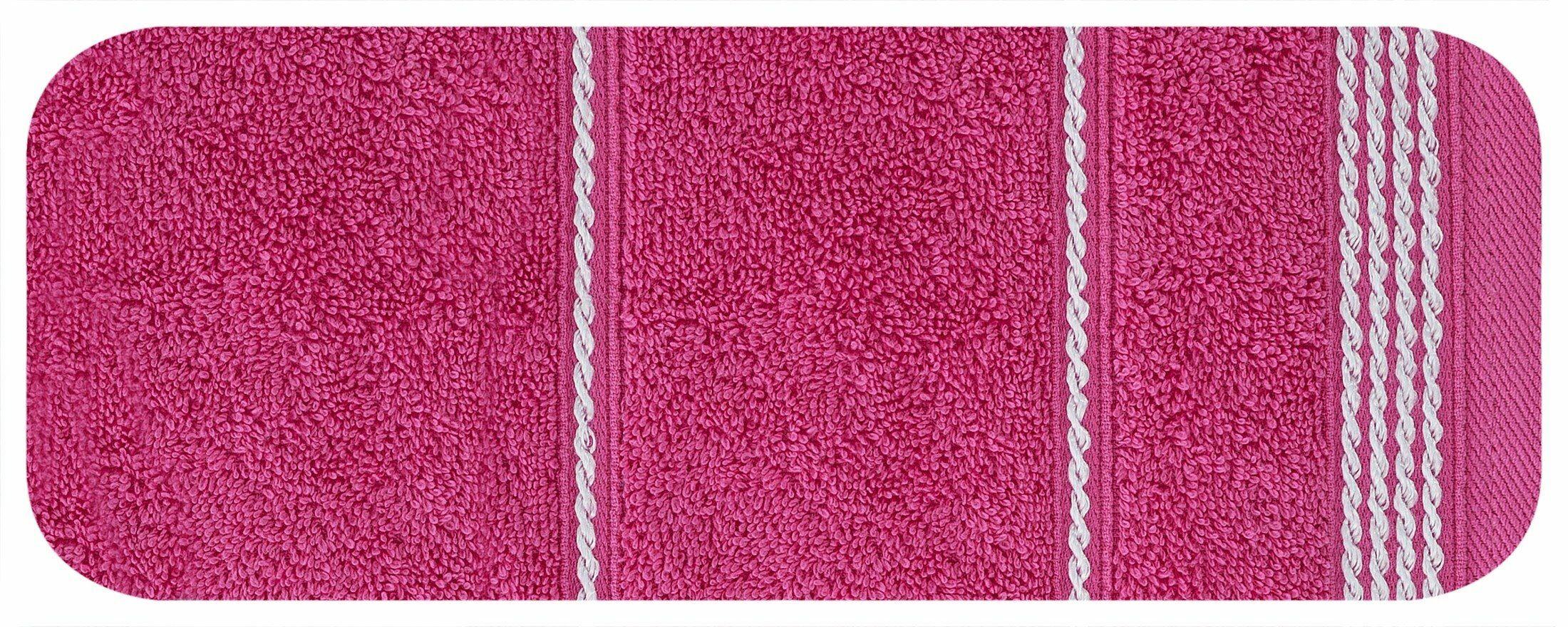 Ręcznik Mira 30x50 różowy 14 frotte 500 g/m2 Eurofirany