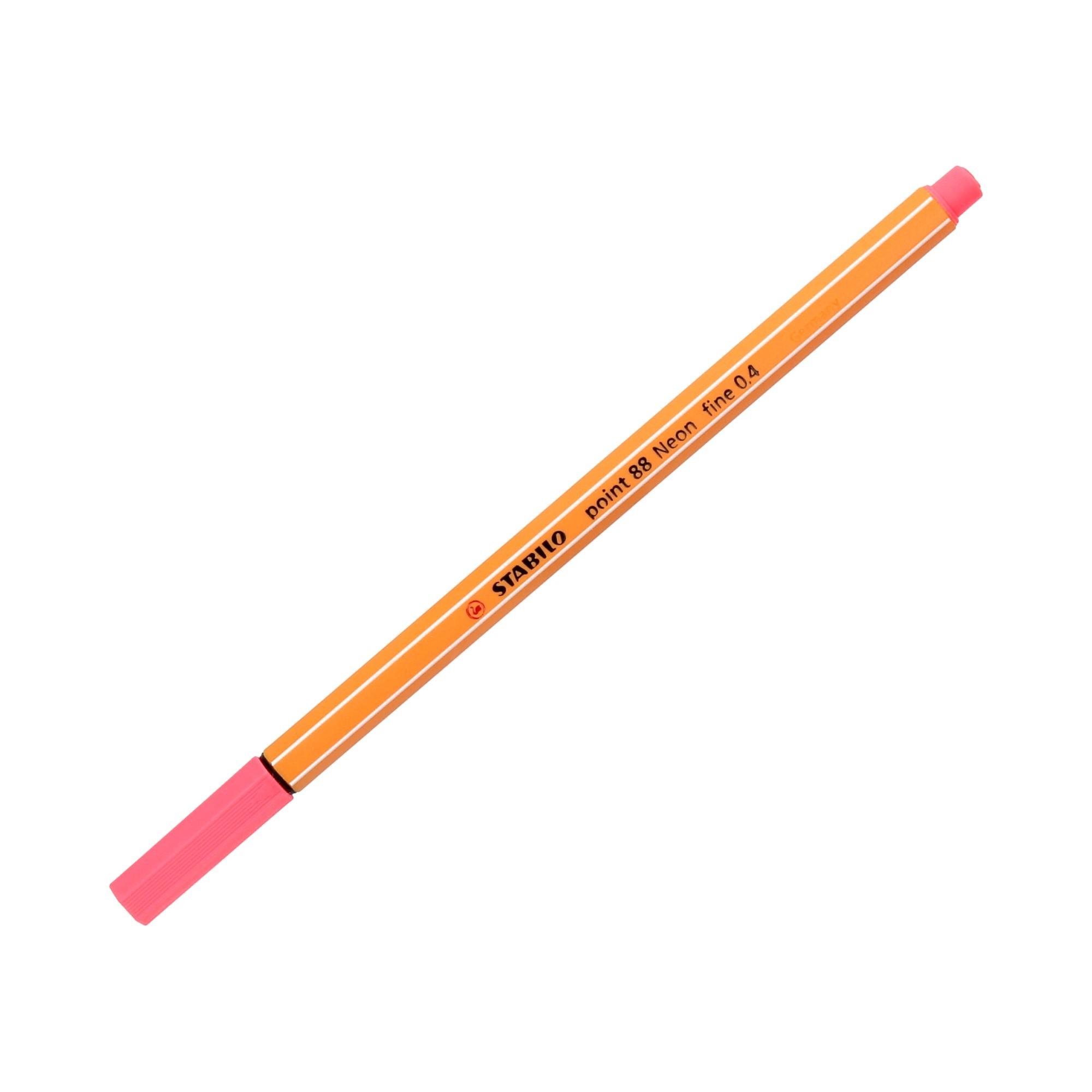 Cienkopis 0.4mm neon/czerwony Point 88/040