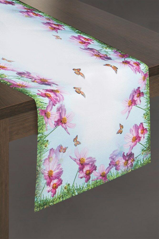Obrus Egidia 4 40x140 kwiatki motyle łączka Eurofirany