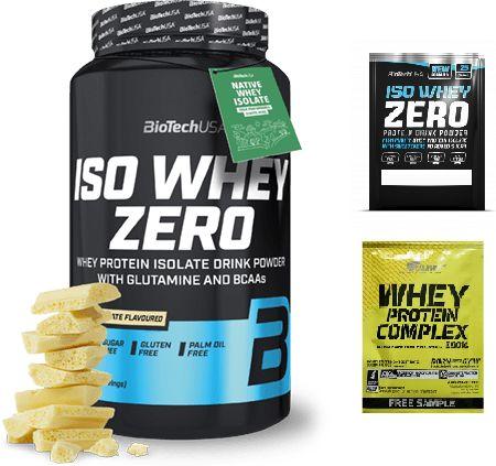 Biotech Iso Whey Zero Lactose Free (Izolat Białka Serwatkowego) 908g Biała Czekolada