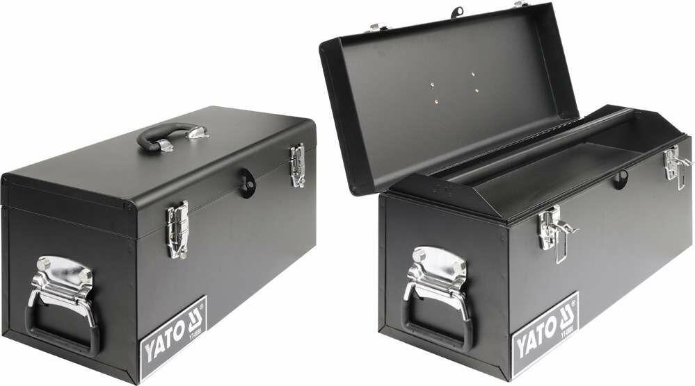 Skrzynka narzędziowa, metalowa 510x220x240 mm Yato YT-0886 - ZYSKAJ RABAT 30 ZŁ