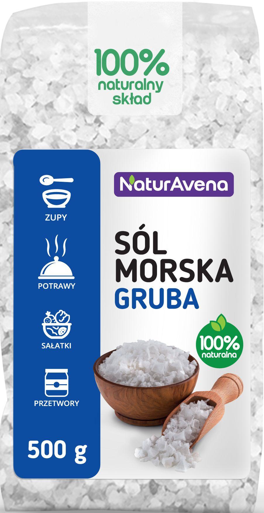 Sól Morska Gruba 500g - NaturAvena