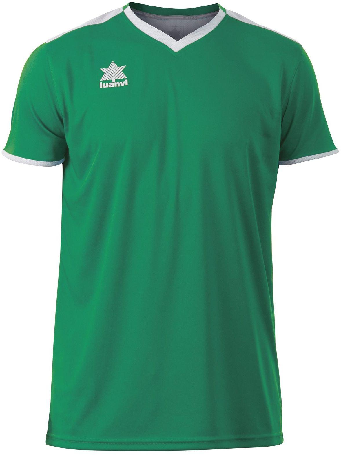 Luanvi Męski T-shirt Match z krótkimi rękawami. zielony zielony XS