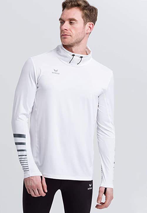 Erima Race Line 2.0 Running Longsleeve męska koszulka z regulowanym kołnierzem i pętelkami na kciuk
