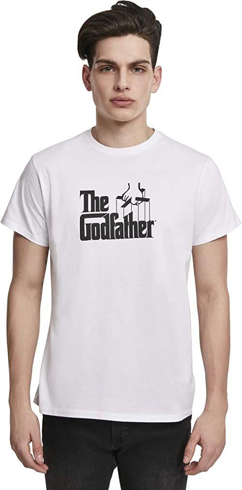 MERCHCODE Męska koszulka z logo Godfather T-shirt, biała, XXL