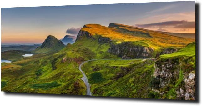 obraz na szkle Zielone wzgórza