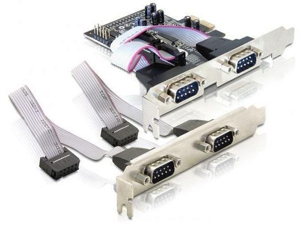 Kontroler COM Delock PCIe 4x RS-232/COM 9-pin