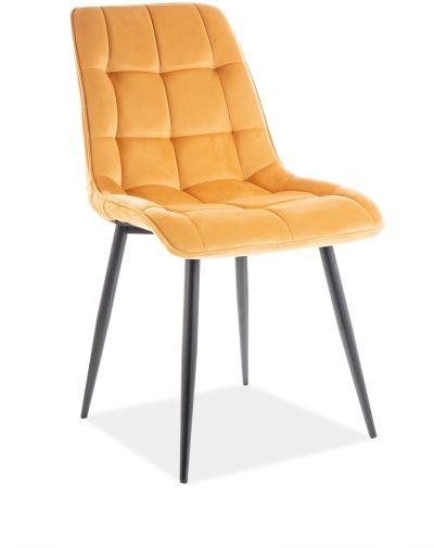 Krzesło CHIC VELVET curry tapicerowane do jadalni i salonu  KUP TERAZ - OTRZYMAJ RABAT
