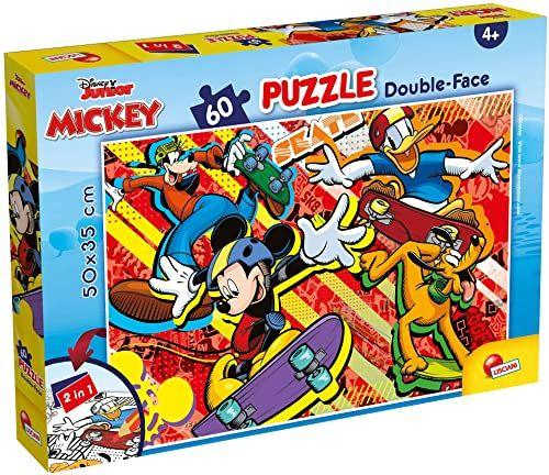 Liscianigiochi 86535 Disney DF Plus 60 Mickey Mouse puzzle dla dzieci, wielokolorowe