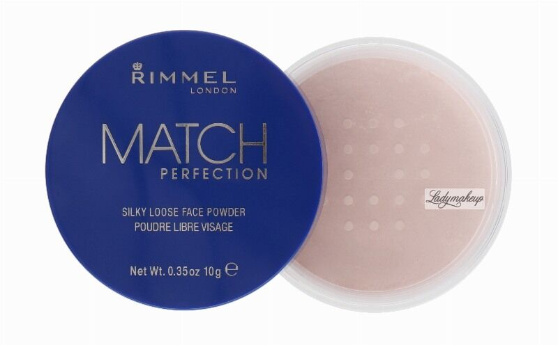 RIMMEL - MATCH PERFECTION - SILKY LOOSE FACE POWDER - Sypki puder transparentny 001