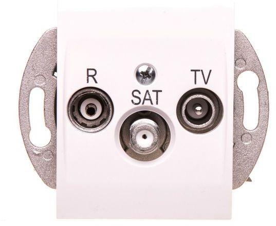Catrin Gniazdo antenowe R/TV/SAT końcowe bez ramki białe 2153-10
