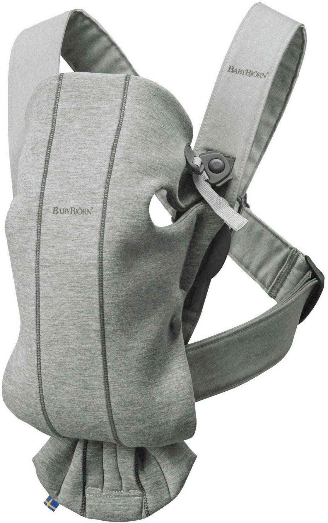 BABYBJORN MINI 3D Jersey  nosidełko, Jasny szary
