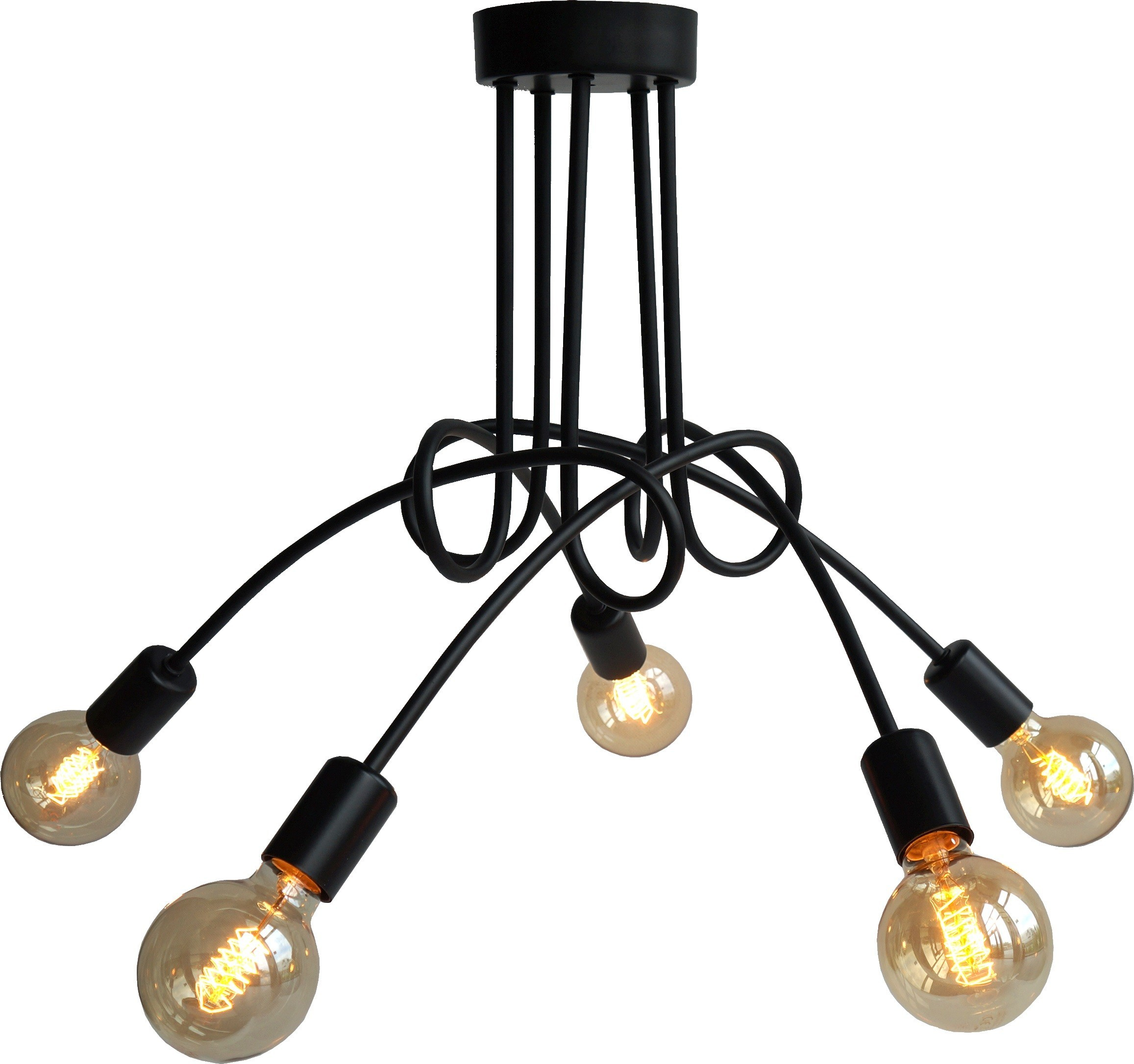 Lampa sufitowa Spin 5 czarna LP-1313/5P - Light Prestige // Rabaty w koszyku i darmowa dostawa od 299zł !