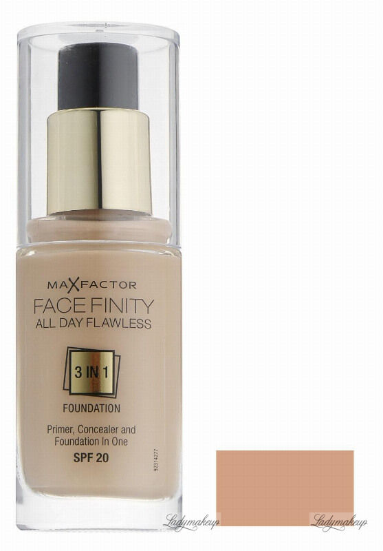 Max Factor - FACE FINITY ALL DAY FLAWLESS - Produkt 3 w 1. Baza, korektor i podkład - 50 - NATURAL