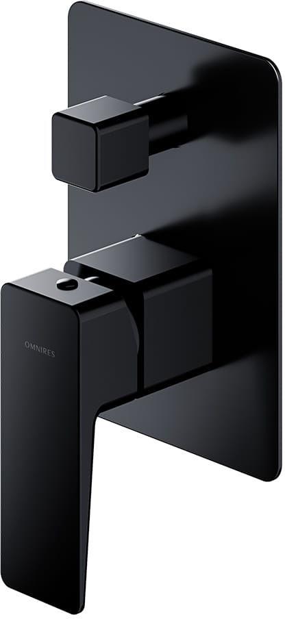 OMNIRES Bateria wannowo-prysznicowa podtynkowa, solo Parma PM7435 BL czarna