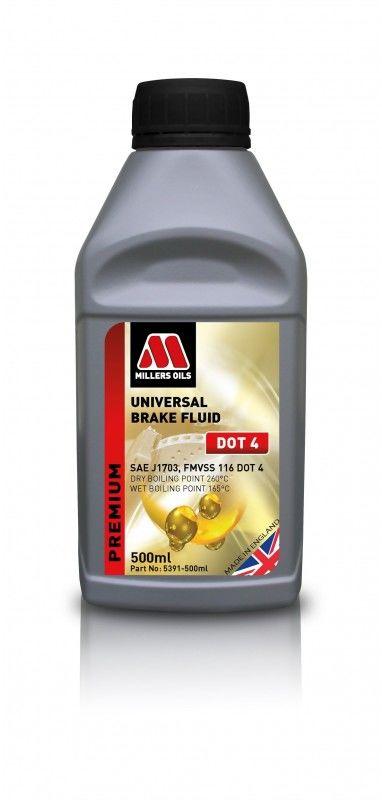Millers Oil UNIVERSAL BRAKE FLUID DOT 4  płyn hamulcowy, temperatura wrzenia 260 stopni 500ml