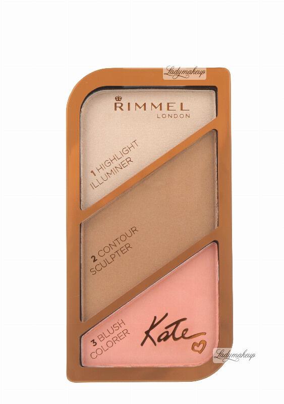 RIMMEL - Contour Palette by Kate - Paleta do konturowania twarzy - 002 - CORAL GLOW