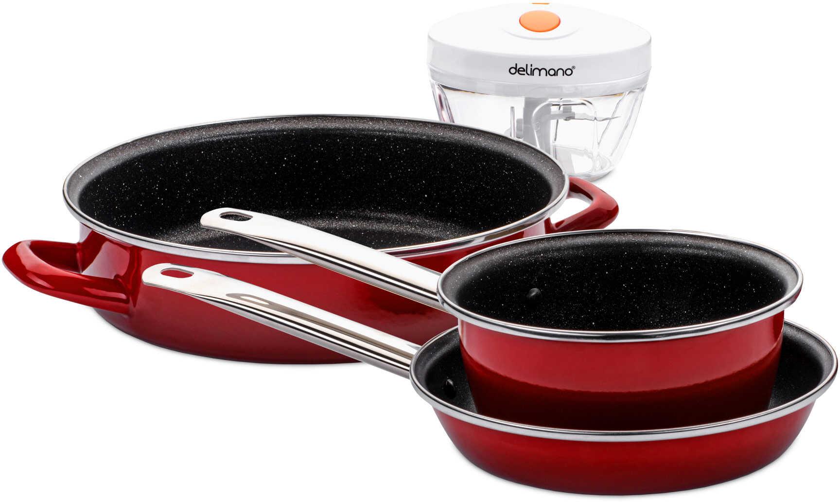 Delimano Zestaw naczyń kuchennych FiveStar Legend + Siekacz Brava Chop Express