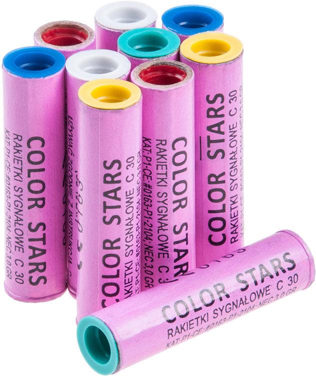 Race 15 mm Color Stars Mix 10 szt. (S110)