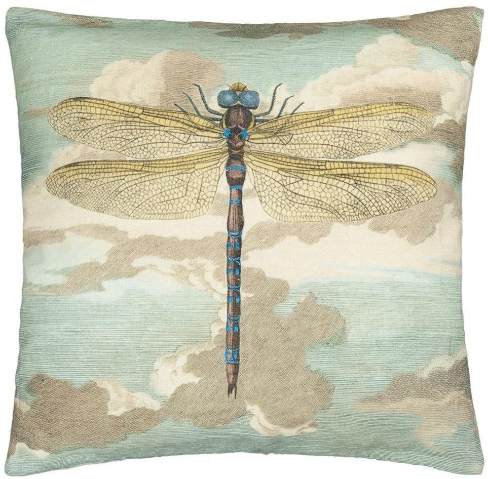 Poduszka dekoracyjna John Derian Dragonfly over Clouds Sky Blue