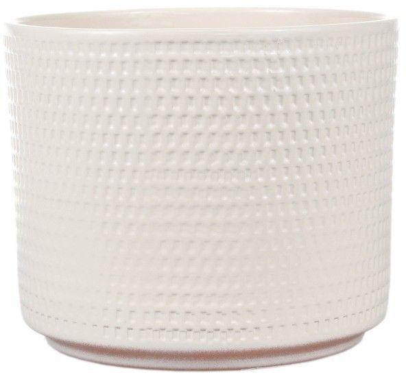 Osłonka doniczki Cermax Calla cylinder 12 cm kremowa