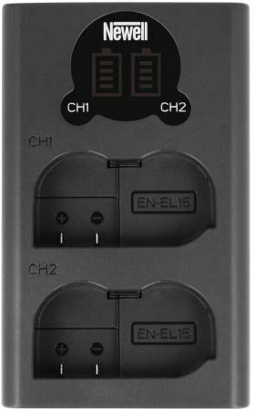 Newell Ładowarka dwukanałowa DL-USB-C do akumulatorów EN-EL15