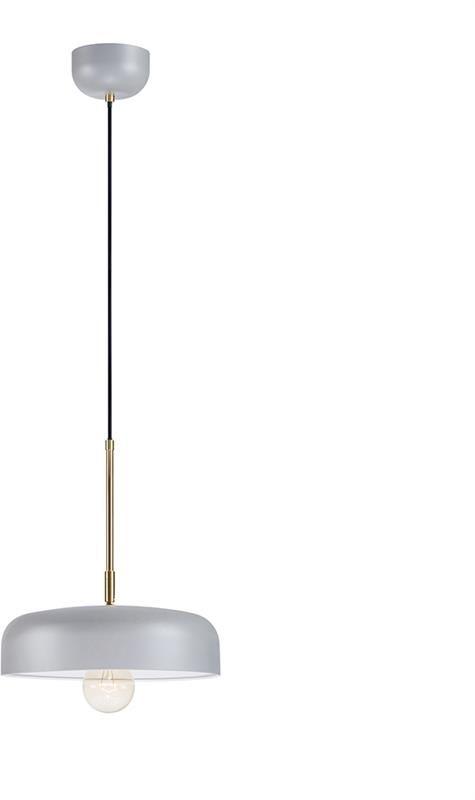 Lampa wisząca Caen 107924 Markslojd szara minimalistyczna oprawa sufitowa