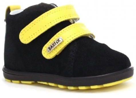 Bartek Mini first steps 11773/0 - 66S trzewiki, półbuciki profilaktyczne - czarny, żółty