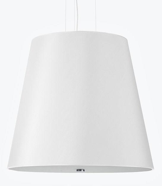 Biały minimalistyczny żyrandol z abażurem - EX669-Genevo