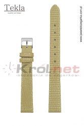Pasek TK033BEZ/14 - beżowy, imitacja skóry jaszczurki